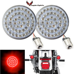 Eagle Lights 2 Red Harley Led Rear Turn Signals 1156 Single Contact Plug N Play