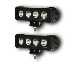 PAIR 40W POWERFUL 24V 12V LED CREE SPOT LIGHT BAR TRUCK 4X4 CAR SUV ATV OFF ROAD