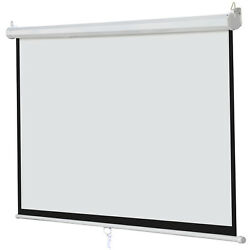 100 Inch 169 Manual Pull Down Outdoor Projector Projection Screen Theater Movie