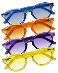 Fashion Round Keyhole Full Magnified Tinted Color Lens Reading Sunglasses UV400 $9.45