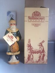 Signed Vaillancourt 1987 Father Christmas By Gorham W/unique Story And Tag