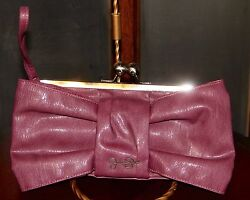 Jessica Simpson Clutch Wristlet Purple with Keychain and Card Holder