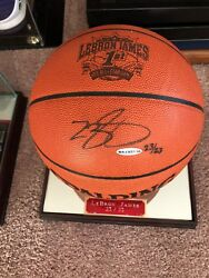 LEBRON JAMES AUTOGRAPHED SIGNED BASKETBALL UDA #23 OF 23 1ST ALL STAR ENGRAVED