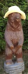 Important Vintage German Swiss Chainsaw Black Forest Bear