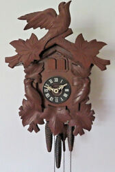 VINTAGE CUCKOO HALL CLOCK BLACK FOREST GERMANY WORK WELL