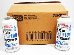 Case12 ACPro R134a PAG 100 Oil Charge wICE32 Performance Enhancer PC-2 Auto AC
