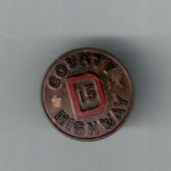 Vintage County Rd D Dodge County Wisconsin Tie Tack / Lapel Pin