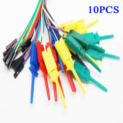 10xtest Hook Clip Fit For Logic Analyser Dupont Cable Arduino Raspberry Pi 28cmand
