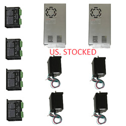 Us Shipping 4 Axis Cnc Kit 425oz.in Nema 23 Stepper Motor And Kl-5042e Driver