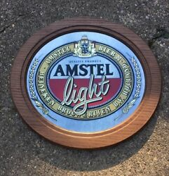 Vintage Amstel Light Mirror Beer Sign Breweriana Collectible