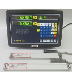 2 Axis Dro Digital Readout For Milling Lathe Machine 1um Precision Linear Scale