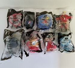 Mcdonalds The Incredibles Lot Of 8 Unopened Happy Meal Toys