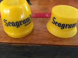 Vintage Seagrams Gin Yellow Plastic Bottle Topper