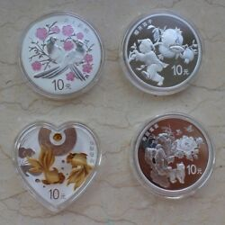China 2018 One Set Of 4 Pieces Of 30g Silver Coins - Chinese Auspicious Culture