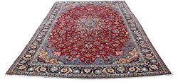 Vintage Hand-knotted Palatial Area Rug Cotton Warp And Wool