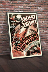 Flash Gordons Trip To Mars 1938 Chapter 4 Ancient Enemies Movie Poster Framed