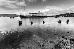 The Cartela Steaming Past The Old Pier By Andrew Wilson Seascape Print