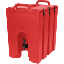 Cambro 1000lcd158 Camtainer 11-3/4 Gallon Beverage Carrier - Hot Red