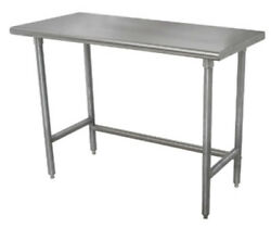 Advance Tabco Tag-309 108wx30d 16 Gauge 430 Series Stainless Steel Work Table