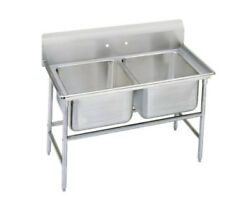 Advance Tabco 9-22-40 Regaline 2-compartment Stainless Steel Sink-20x20 Bowls