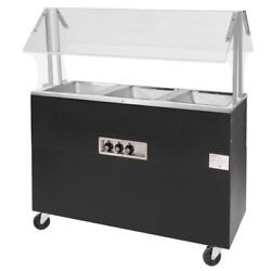 Advance Tabco 54 Electric 3 Wells Portable Hot Food Table Solid Base 240v