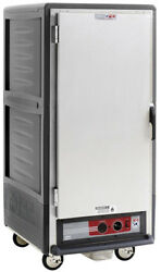 Metro C537-cfs-u-gy 3/4 Mobile Holding/proofing Cabinet Univ Wire W/ Solid Door