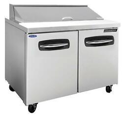 Nor-lake Nlsp48-12a 48.25in Two Door Sandwich Top Refrigerated Counter
