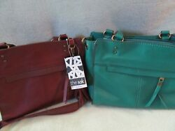 The Sak Alameda Leather Satchel Shoulder Cross Bag Cabernet Emerald U Choose NWT $159.99