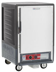 Metro C535-cfs-u-gy 1/2 Mobile Holding/proofing Cabinet Univ. Wire W/ Solid Door