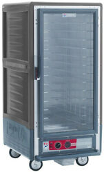 Metro C537-cfc-u-gy 3/4 Mobile Holding/proofing Cabinet Univ. Wire W/ Clear Door