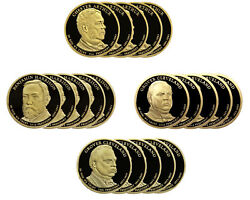 2012 -s Presidential Proof Dollar Roll 20 Us Coins, Arthur Harrison 2x Cleveland