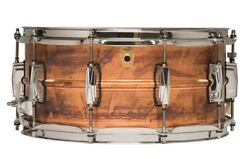 Ludwig Lc663 Copper Phonic Raw Patina 14x6.5 Kit Snare Drum | Authorized Dealer