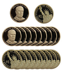 2013 -s William Mckinley Presidential Proof Dollar Roll 20 Us Coins