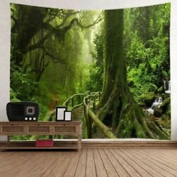 Psychedelic Forest Print Tapestry Wall Hanging Bedspread Art Decor Home Tapestry $12.06