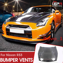 For Nissan R35 GTR Revosport Style Carbon Fiber Hood With Water Tray Protector