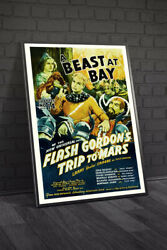 Flash Gordons Trip To Mars 1938 Chapter 14 A Beast At Bay Movie Poster Framed