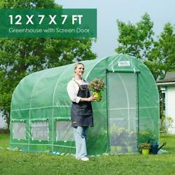 Quictent 12'x 7'x 7' Portable Greenhouse Large Walk-in Green Garden Hot House Us