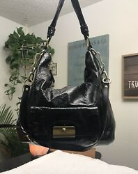 Coach  black patent leather Satchel with crossbody strap