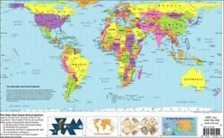 HOBO-DYER EQUAL AREA PROJECTION: [WORLD MAP] By Inc Odt **BRAND NEW**