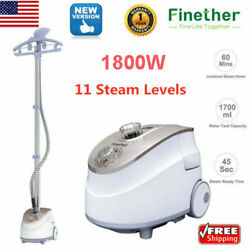 1800W Heavy Duty Fabric Garment Steamer Kit Clothes Laundry Wrinkle Hanger Iron