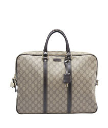 Gucci 201480 Brown GG Coated Canvas Buisness Bag