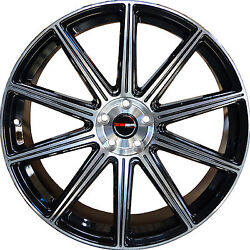 4 GWG Wheels 20 inch Black Machined MOD Rims fits CHEVY IMPALA 2000 - 2013