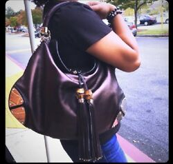 NEW SALE Beautiful Gucci Indy Hobo Medium Brown  Leather Bag $3300