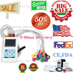 Softwareportable 12-channel 24h Ecg Ekg Holter Analyze System Recorder Monitor