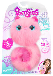 Pomsies - Blossom - Pink Plush Wearable Pet Cat With Light Up Eyes And Sounds Real