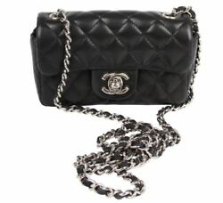 Chanel Black leather quilted Mini bag