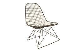 Eames Wire Lkr Chair Rare Catand039s Cradle Base