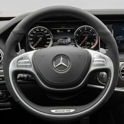 Mercedes-benz Oem W222 S63 S63 S Amg Leather And Microfiber Heated Steering Wheel