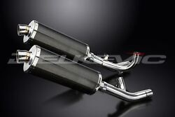 Delkevic 14 Carbon Fiber Oval Stubby Mufflers Yamaha Vmax 1700 - 09-16 Exhaust