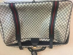 Authentic Vintage Gucci Travel Bag Luggage Suitcase Large 30 Inches